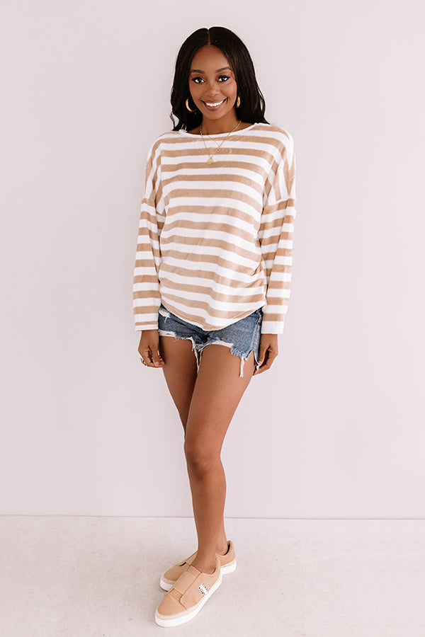 Missing You Softly Plush Stripe Sweater