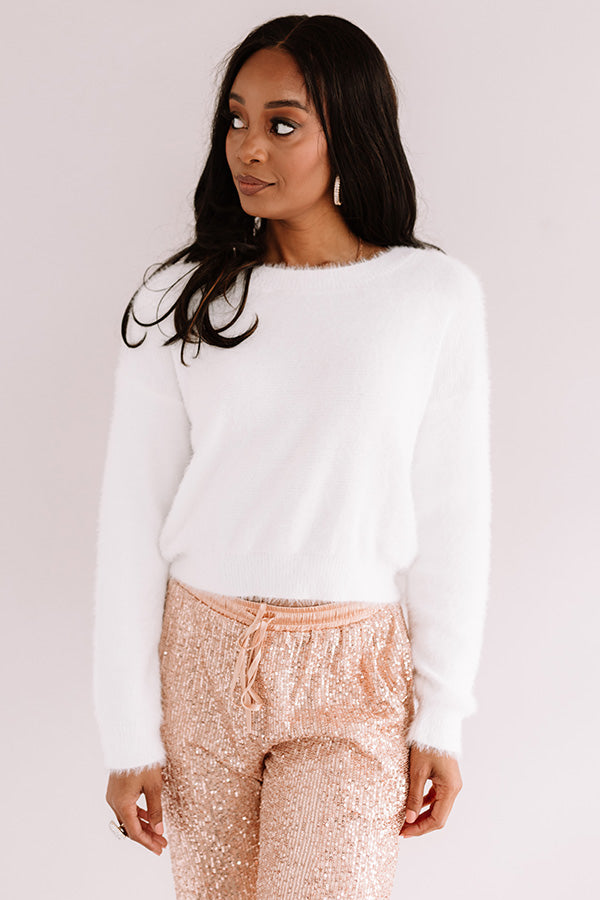 Cozy Stay Ultra Soft Sweater In White