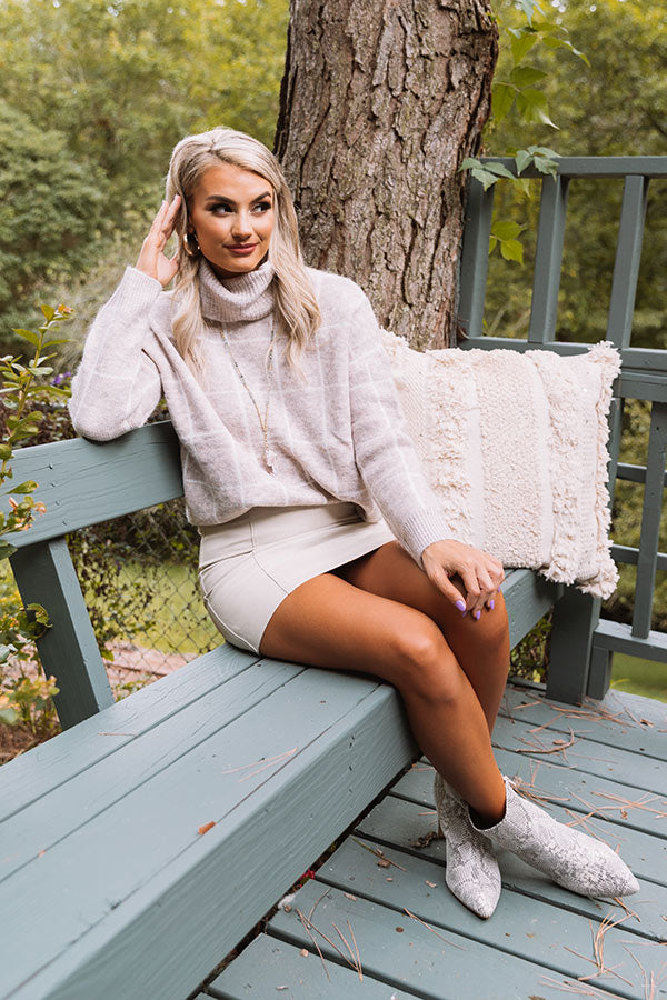 A Latte Love Sweater in Birch