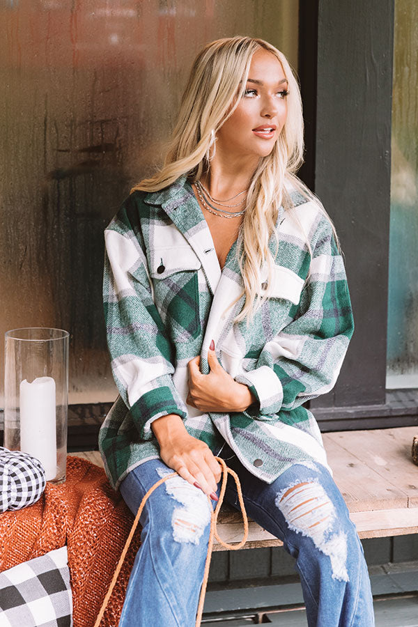 Redwoods Adventure Plaid Jacket In Green