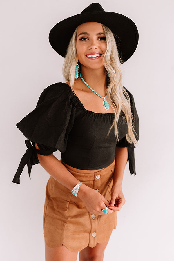 Get The Look Crop Top In Black
