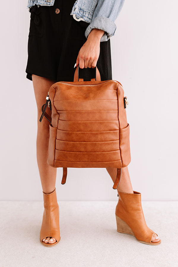 Solo In Soho Faux Leather Backpack In Maple