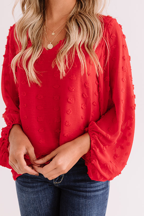 Cocktail Kinda Night Shift Top In Red