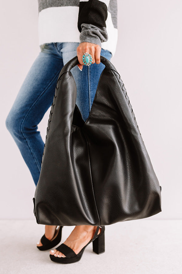 Bryant Park Bungalow Faux Leather Tote In Black