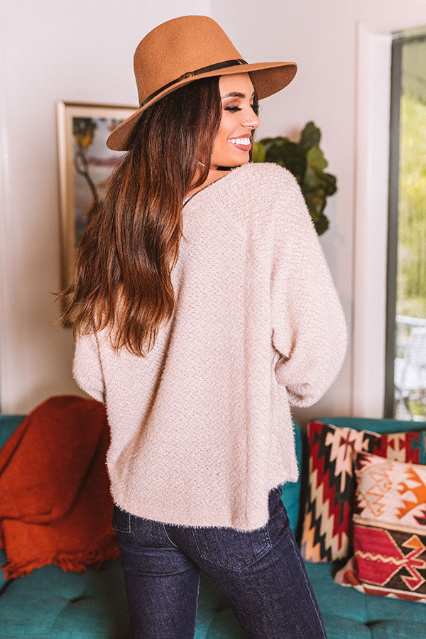 Sweet Solitude Knit Sweater In Birch