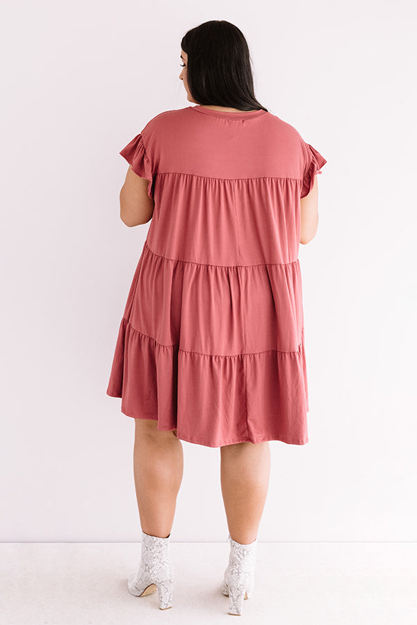 Ready To Party Babydoll Dress In Rose