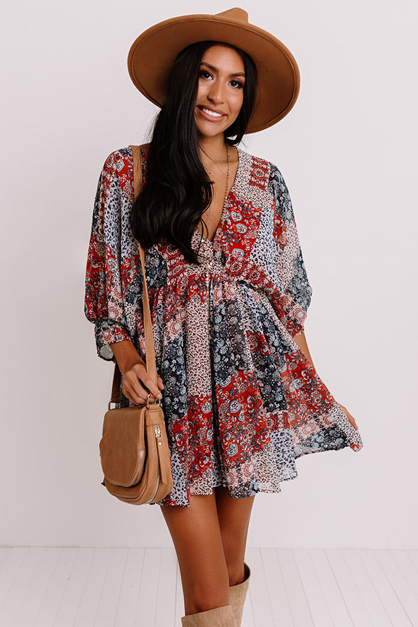 Boho Bombshell Babydoll Dress