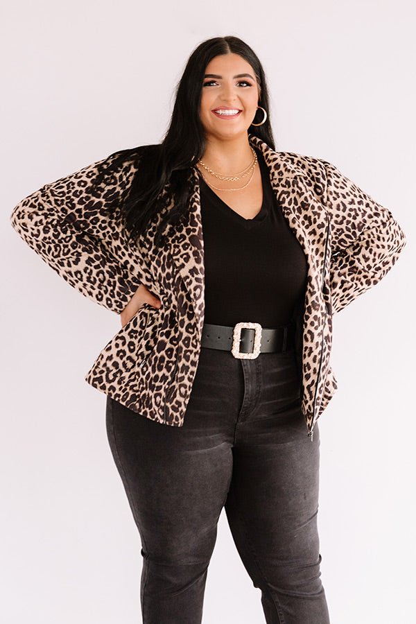 Whistler Weekend Leopard Jacket In Iced Latte