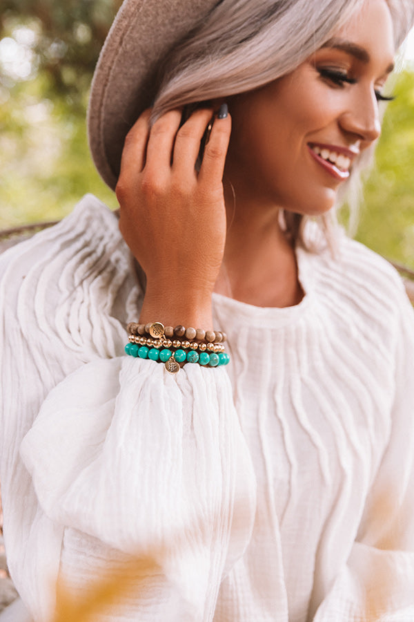 The Hallie Stretchy Stack Bracelet Set