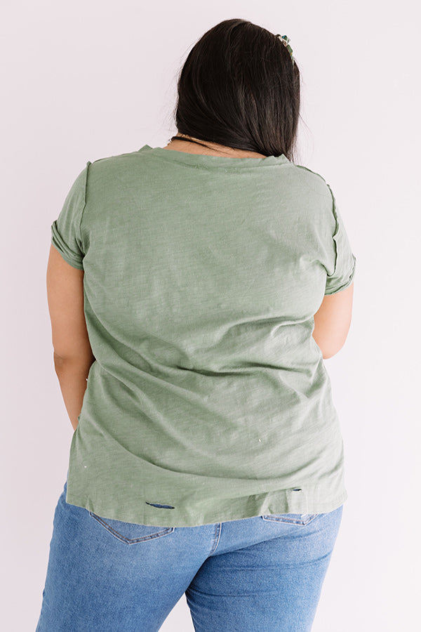 Slow Motion Shift Tee In Sage
