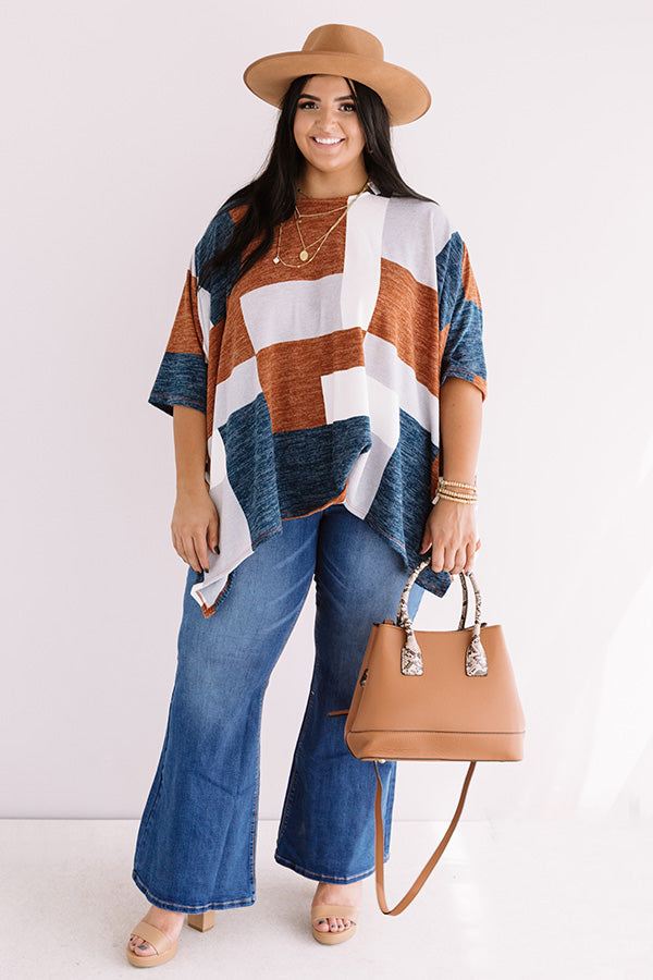 Stay Awhile Colorblock Shift Top