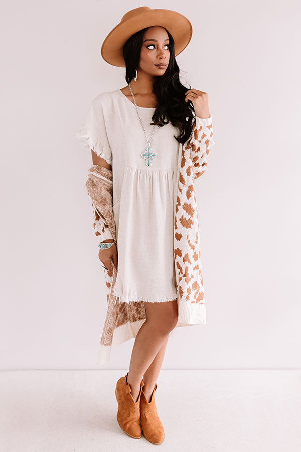 Really Lovely Babydoll Dress In Stone