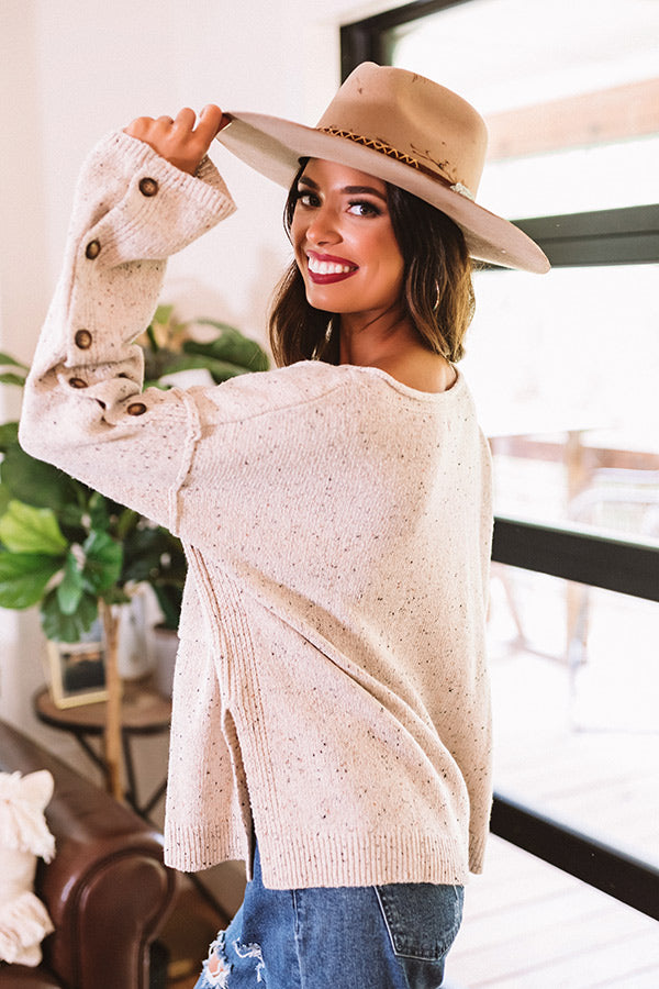 Cappuccino Cozy Knit Sweater