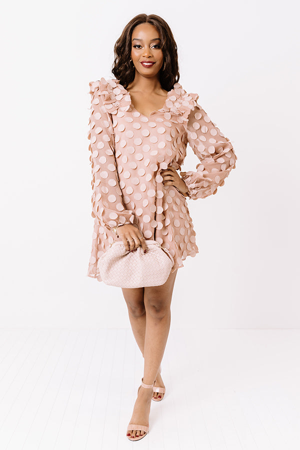 Cute Collab Shift Dress In Blush