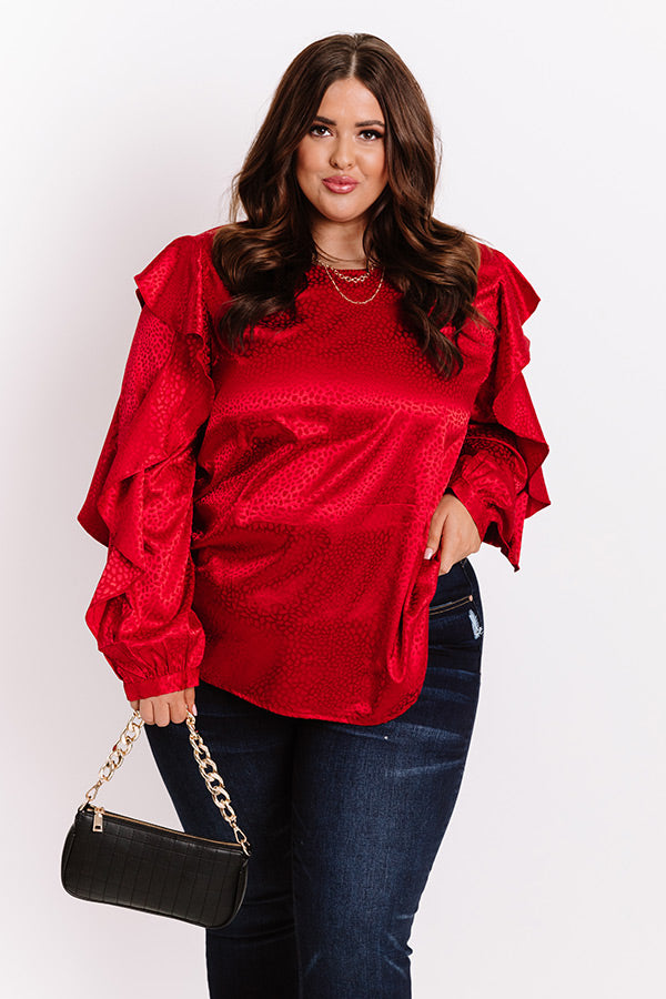 Day To Day Leopard Shift Top In Red
