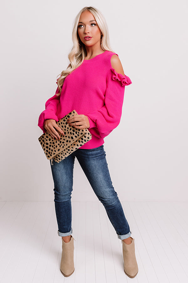 Sweet As Sugar Sweater In Pink