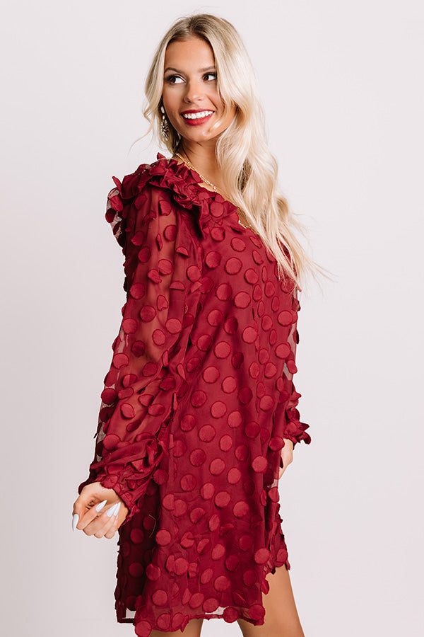 Cute Collab Shift Dress In Wine