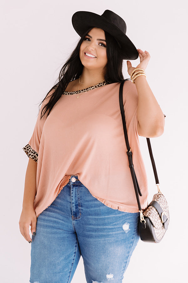 Red Rocks Date Night Knit Top In Peach