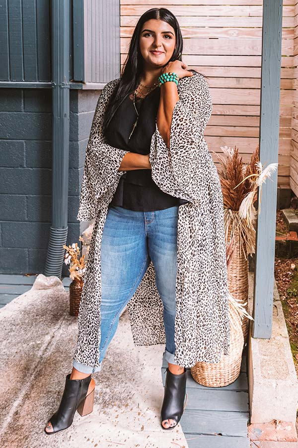 Napa Nights Leopard Duster