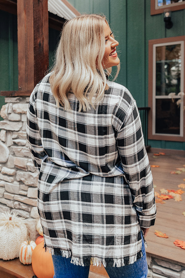 Pick Of The Plaid Tunic In Black