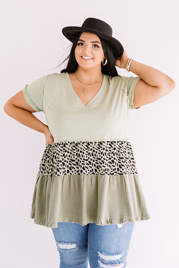 Park City Party Tunic Dress In Sage