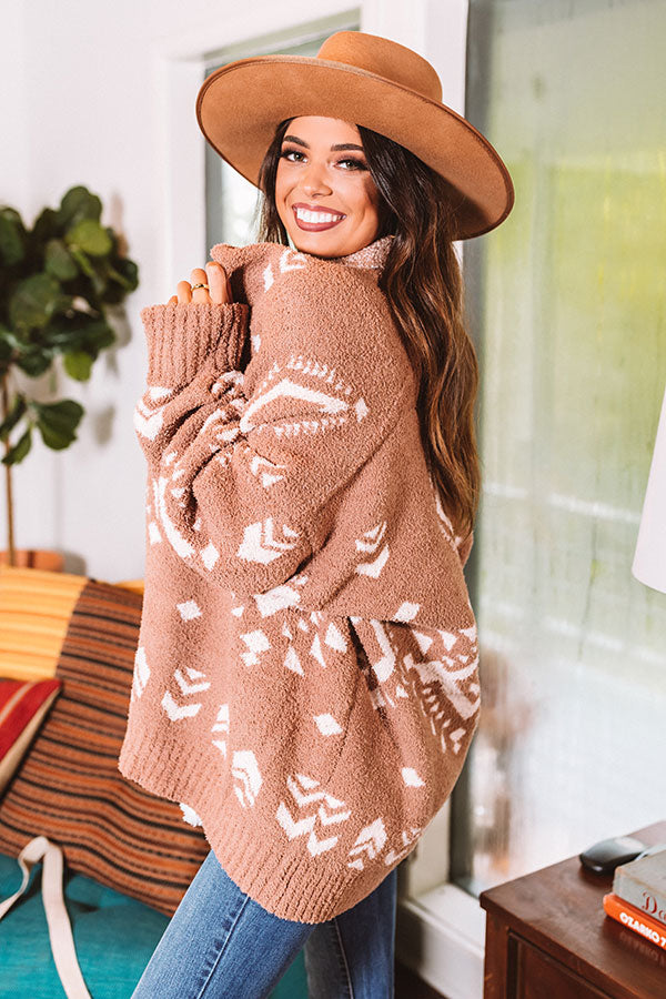 Campfires And Friends Cardigan In Mocha