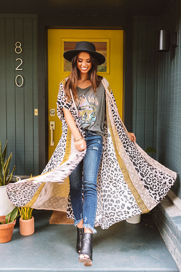Ever After Leopard Duster