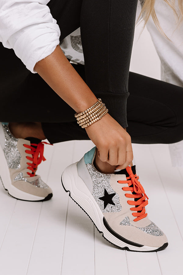 The Quincy Glitter Sneaker