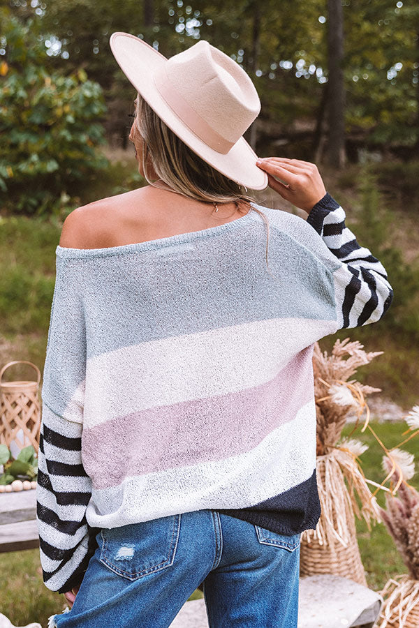 Dawn On Me Knit Sweater