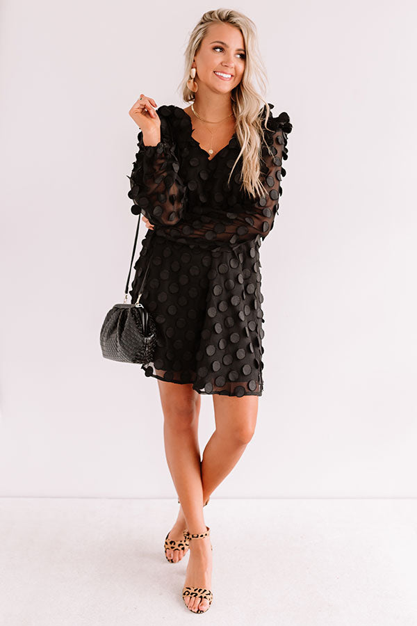 Cute Collab Shift Dress In Black