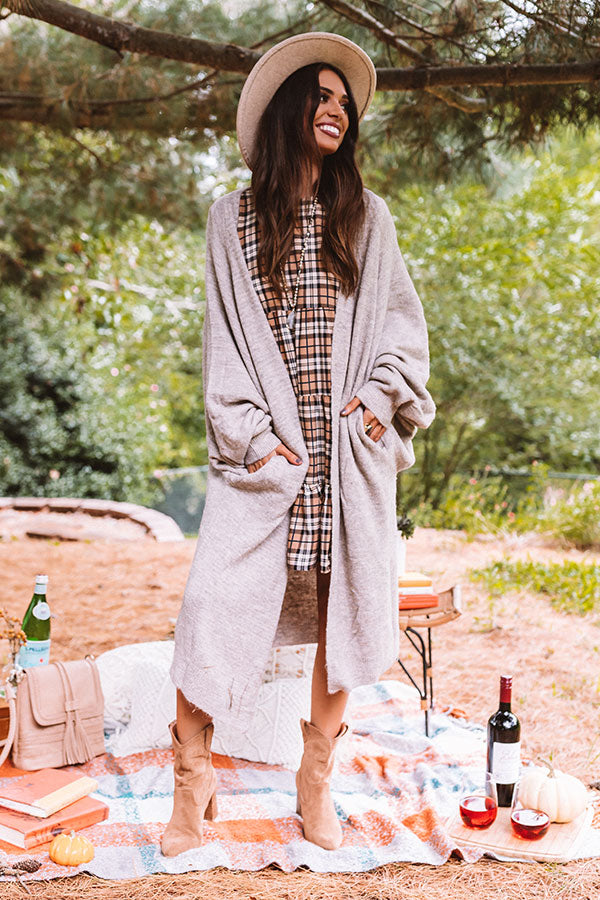 Fall Morning Duster Cardigan in Birch