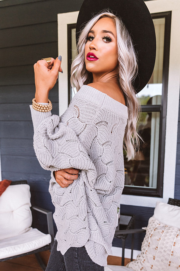 September Morning Knit Sweater In Grey