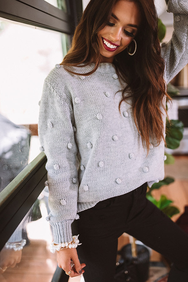 Undercover Sweetness Knit Sweater In Grey