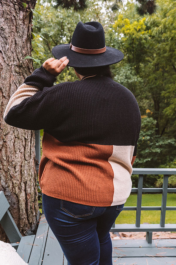Vermont Fall Color Block Sweater