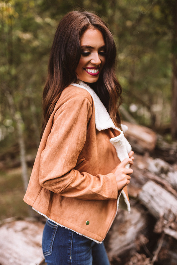 Fall Session Faux Suede Jacket In Camel • Impressions Online