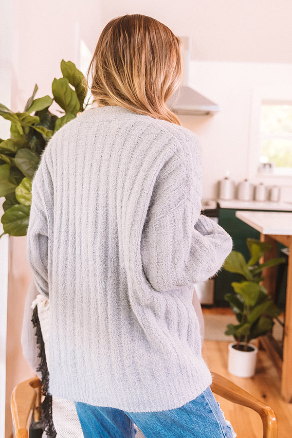 Autumn On Repeat Cardigan In Grey