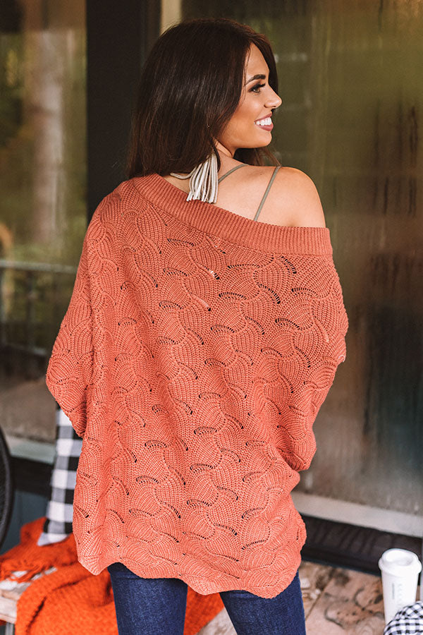 September Morning Knit Sweater In Rust