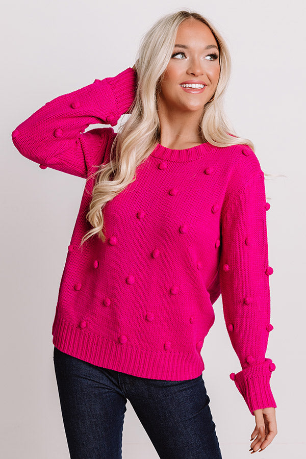Undercover Sweetness Knit Sweater In Fuchsia