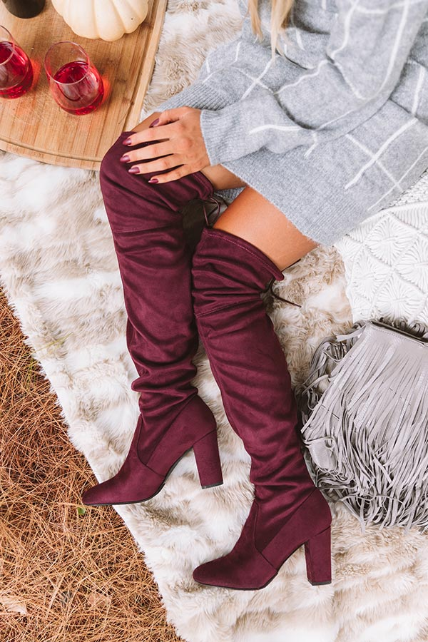 The Raven Faux Suede Thigh High Boot