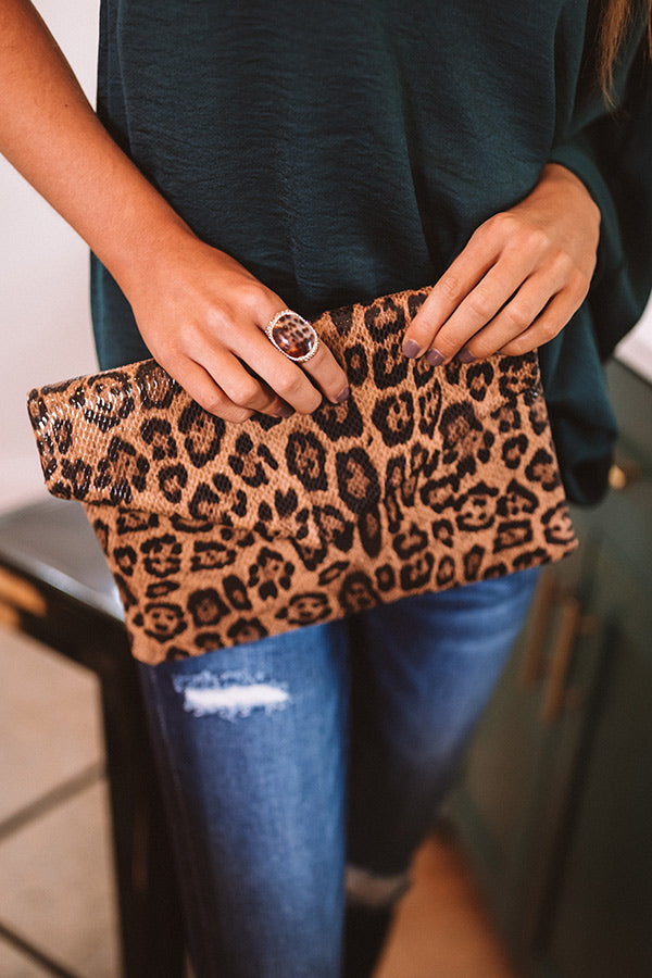 Looking For Love Leopard Clutch