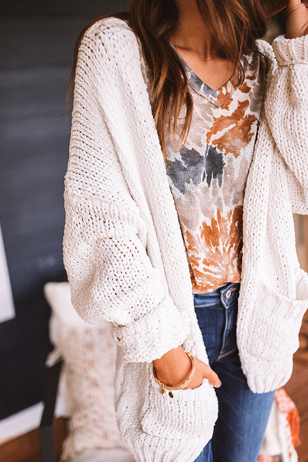 Snuggles So Soft Knit Cardigan In White
