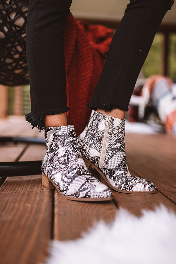 The Olette Snake Print Bootie