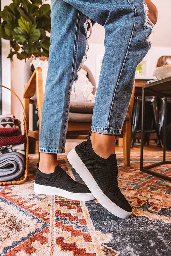 Steve Madden Beale Knit Sneaker in Black