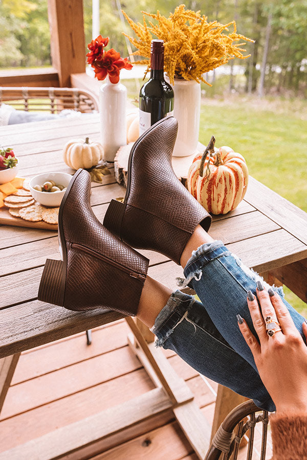 The Olette Bootie In Brown
