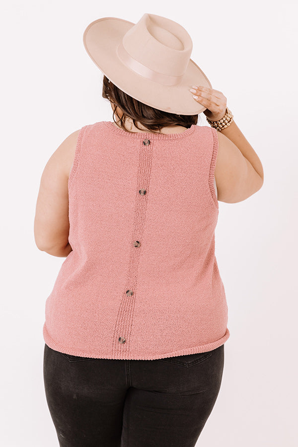 Good Connection Knit Top In Blush