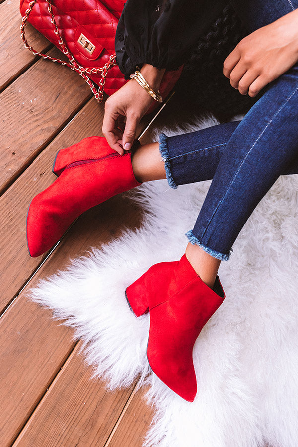 The Roselynn Faux Suede Bootie