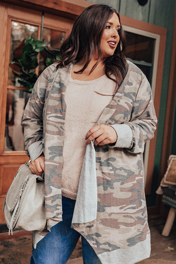 Trailside Coffee Camo Cardigan