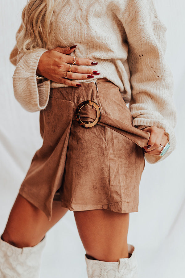 Boho Valley Faux Suede Shorts