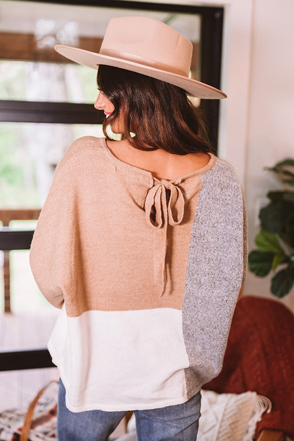 Always And Forever Sweater In Iced Latte