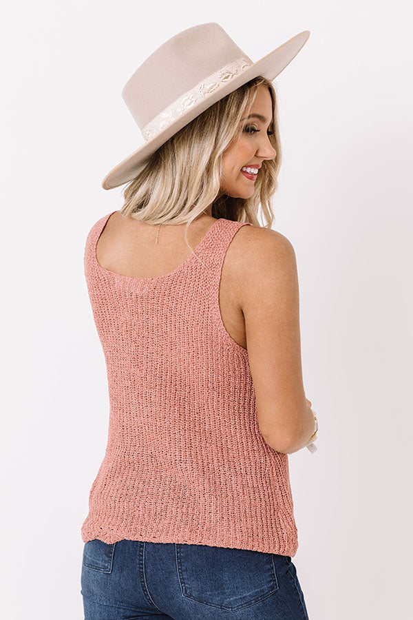 Close Knit Relationship Top In Blush